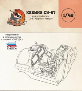 Cabin resin lit for SU-57 model kit 1/48 by Zvezda