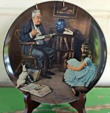 "Norman Rockwell ""The Storyteller"" Collector Plate Numbered Display Mount Knowles"