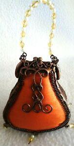 Vintage Christmas Tree Ornament-Shaped like Purse/Bag-Beaded Hanger