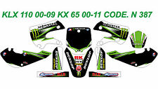 N 387 KAWASAKI KLX 110 00-09 KX 65 00-13 Autocollants Déco Graphic Sticker Decal