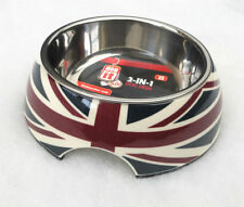 HAGEN DOG IT UNION JACK HIGH QUALITY DOG CAT 2 IN 1 FOOD WATER BOWL DISH 350ML S
