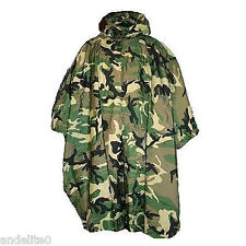 Pro British Army Issue Waterproof Camouflage Camo Poncho Fish Hike Hunt Hide New