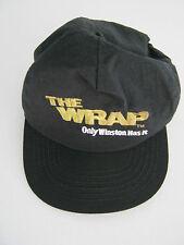 The Wrap Winston Promotional Black Cap Hat Snapback - NOS