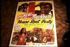 HOUSE RENT PARTY ORIG MOVIE POSTER 1946 ALL BLACK CAST PIGMEAT MARKHAM