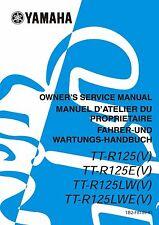 Yamaha owners service manual 2006 TT-R125(V) TT-R125E(V) TT-R125LW(V)