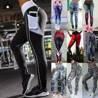Women High Waist Yoga Fitness Leggings Gym Running Stretch Sports Pants Trousers