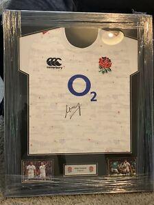 Mako Vunipola Signed England Rugby Shirt With Coa