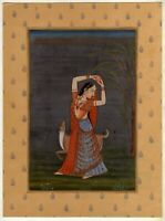 Indian Art Miniature Painting Of Lady Handmade High Quality Miniature Paper Art