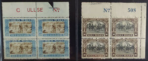 MEXICO 1921 INDEPENDENCE centy. Scott 632-633 BLOCKS OF 4 MNH mint never hinged,