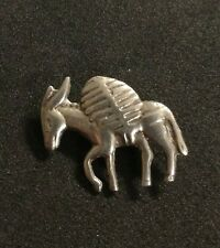 Vintage 800 Mexico Silver Donkey Pack Mule Brooch Pin