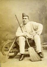 Humoristic Portrait Military Meudon France Old Photo Delaporte 1875