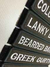 "Custom Name Patch Cloth 5""X1"" Combat Hook And Loop  AirSoft Paintball WODSOX"