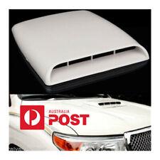 Universal White Car SUV Air Flow Intake Hood Scoop Vent Bonnet Decorative Cover