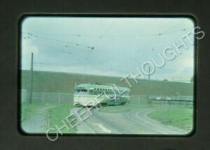 Original '50s Anscochrome Slide San Francisco Muni 1036 PCC Trolley action 17E7