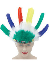 Kids Indian Fancy Dress Headdress Headress Feather Multi Coloured New Accessory