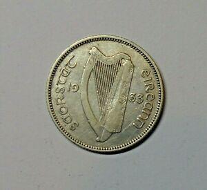 IRELAND: IRISH SHILLING 1933. KM 6.  FREE SHIPPING