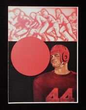 >Vintage 1930's College Football Program Cover NOT A REPRO! Salesman Sample?