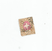 More details for telegraph stamp swiss 3 francs red and beige 1883