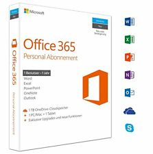 Microsoft Office 365 Personal - 1 PC/MAC + 1 Tablet - 1 Jahr Abo - Key