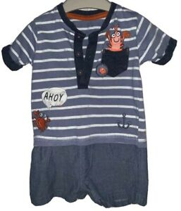 Boys 0-3 Months - Cute Summer Romper Suit / All In One