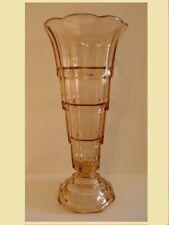 ART DECO : Gelobte vaas in persglas op voet.