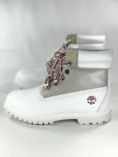 Timberland Christmas Women's Limited Boots Size 9.5 New Rare White Red