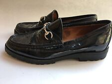 Gucci Black  patent loafers shoes 8.5 Flats