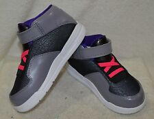 bf0df52fd51e7 Jordan Flight Club 90 s Toddler Girl s Grey Purple Pink Black Sneakers-Sz