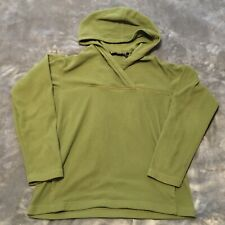 PATAGONIA Women's Synchilla Pullover Hoodie Sweater Olive Medium