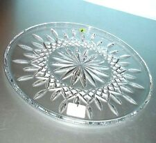 "Waterford Crystal Lismore 12"" Cake Plate Round 9969876400 New In Box"