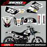 YAMAHA PW 50 PEE WEE MOTOCROSS MX GRAPHICS DECAL KIT MUSCLE MILK BLACK / WHITE