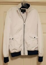 NEVER WORN Scotch & Soda Bomber Style Jacket Mens Sz L White Blue Coat Jacket