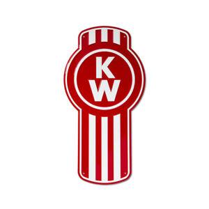 "Kenworth Trucks Custom Bug KW Logo Aluminum Metal Sign 11.5"" x 22"""