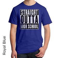 Straight Outta High School Graphic T-Shirt Senior Graduation Gift Education 520