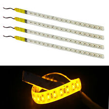 4Pcs Amber 30CM 3528 1210 32SMD 12V Knight Rider Flexible Flash LED Strip Light
