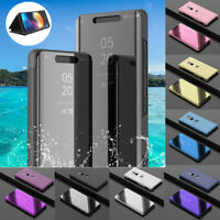 For Sony Xperia XZ3 Ultra Slim Flip Cover Luxury Mirror Smart View Stand Case