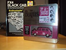 BEATLES DIECAST LONDON PINK TAXI IN TIN + T-SHIRT  PLAQUE & FX4 ENTHUSIAST BK