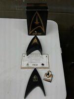 NOS Star Trek Limited Edition Fossil Mens Pocket Watch Federation Issue 4750/100