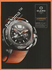 CLERC hydroscaph watch Print Ad # 170 1