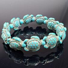 Stretch Bracelet Fashion Jewelry Gift White Turquoise Stone White Turtle Beaded