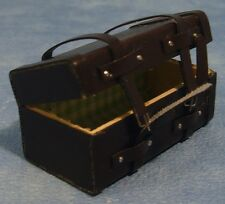 Brown Steamer Trunk Dolls House Clothing Miniature
