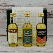 Ledaig, Miltonduff, Highland park tasting set Gordon & MacPhail miniature whisky