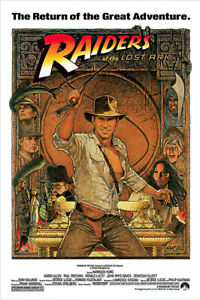 """Indiana Jones - Raiders Of The Lost Ark - Movie Poster (Whip & Hat) (27"""" X 40"""")"""