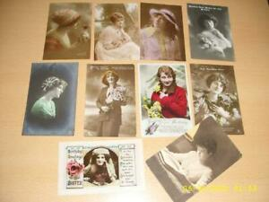 GLAMOUR LADIES  -  COLLECTION OF VINTAGE  POSTCARDS