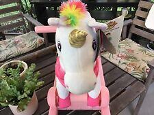 Rockin'Rider Pony Pink 2-In-1 Unicorn CELESTE, Talks & Sings.New