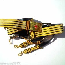 Knight Templar Masonic Sword belt Golden hardware York Rite