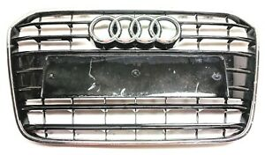 GENUINE 2012+ AUDI A6 FRONT GRILLE IN BLACK WITH CHROME PIECES 4G0 853 651 C