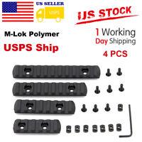4pcs M-LOK Polymer Rifle Picatinny Weaver Rail Section Set for MLOK