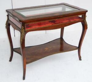19th Century Rosewood Marquetry Bijouterie Table