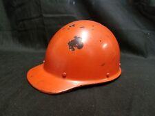 Vintage 1950's Orange Telephone Service MSA Skullgard Hard Hat Helmet